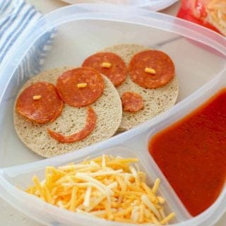Smiley Face Pizza Lunchable with sandwich thins