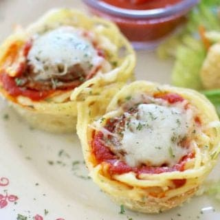 kid-friendly spaghetti sausage cups