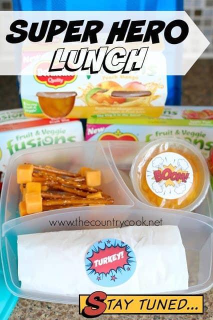 Kids Super Hero Lunch
