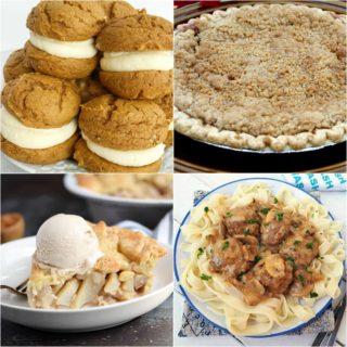 Weekend Potluck 293 - Amish Apple Crumble Pie