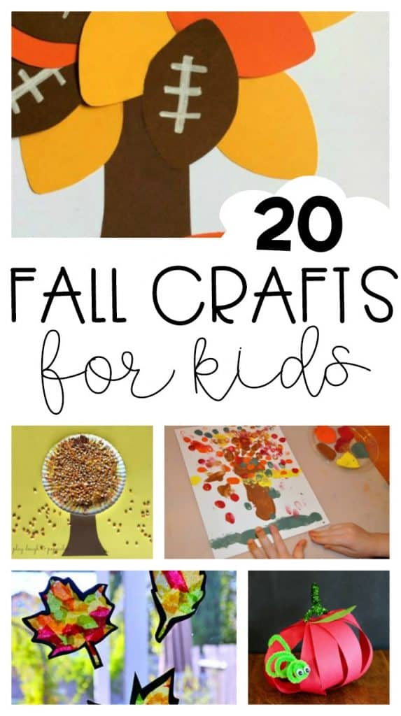 20 Fall Crafts for kids at The Country Cook