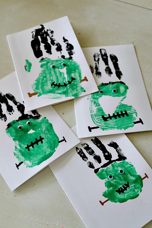 Frankenstein Handprint Craft from MomDot