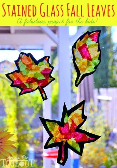 Stained Glass Fall Leaves Crafts from Mom on Timeout