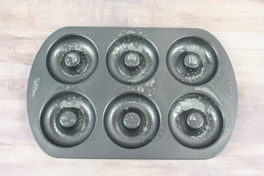 6-doughnut pan with nonstick cooking spray