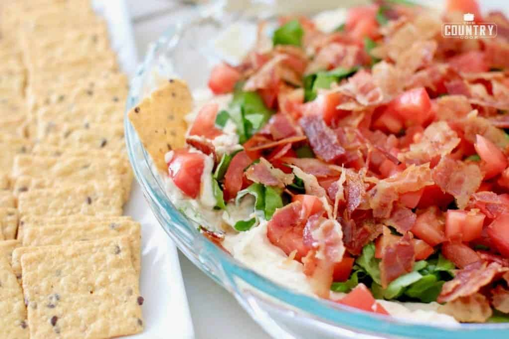 Closeup, Bacon Lettuce Tomato Dip