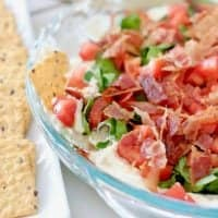 Closeup, Bacon Lettuce Tomato Dip