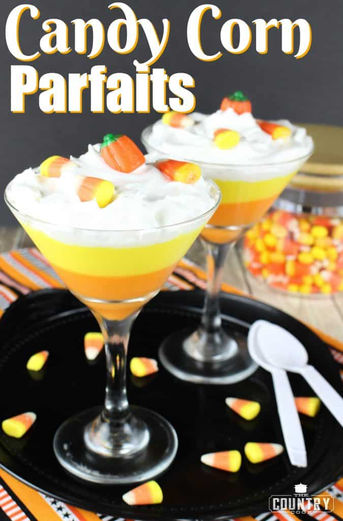 Candy Corn Parfaits recipe from The Country Cook