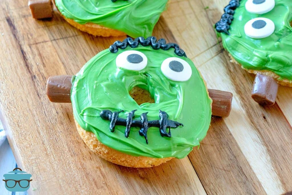 Cute Frankenstein Doughnuts for kids