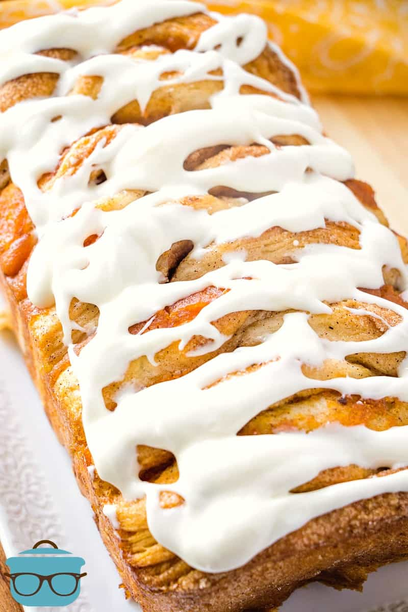 Easy Pumpkin Pull-Apart Bread with Cream Cheese Icing