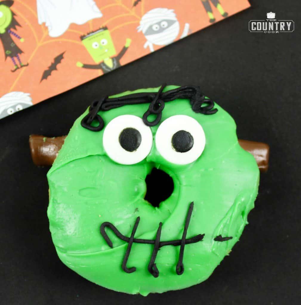Halloween Frankenstein Donuts