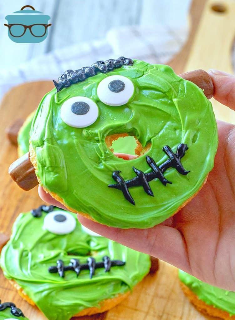 finished, Frankenstein Doughnuts