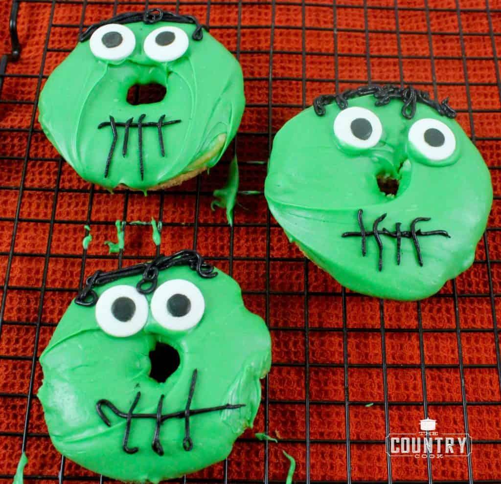Frankenstein Doughnuts