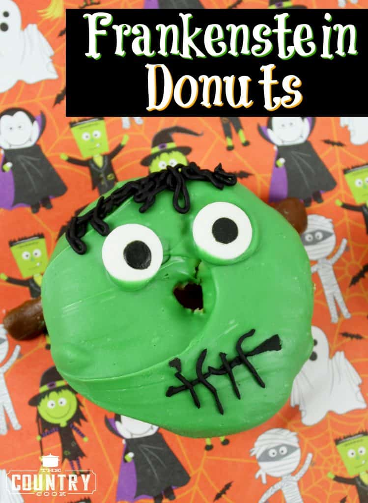 Easy Frankenstein Donut recipe from The Country Cook