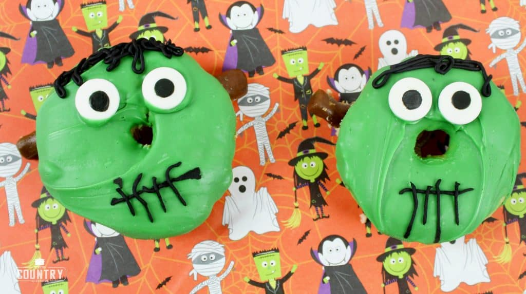 Halloween Treat, Frankenstein Donuts