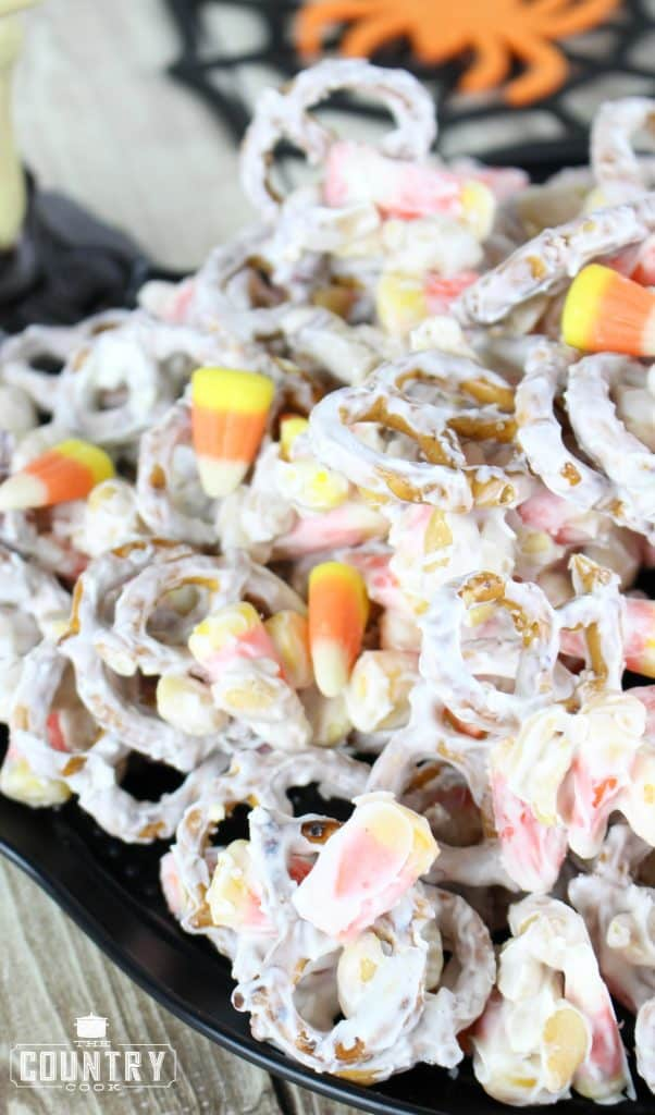 Halloween Candy Corn White Trash recipe from The Country Cook
