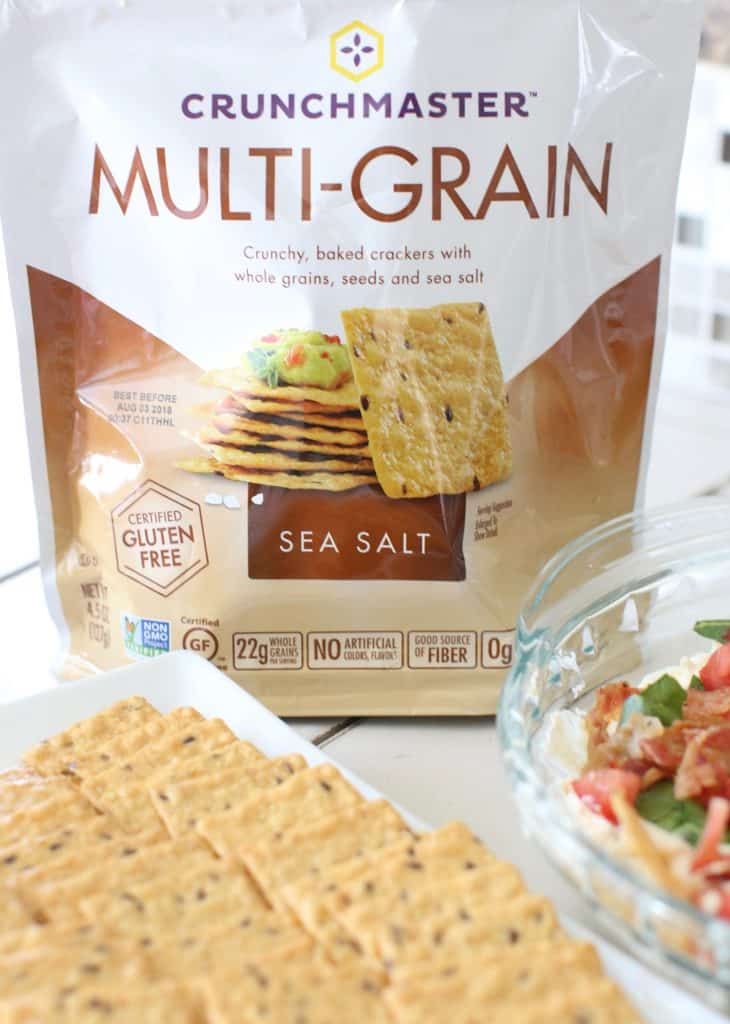 Crunchmaster Crackers with BLT Dip