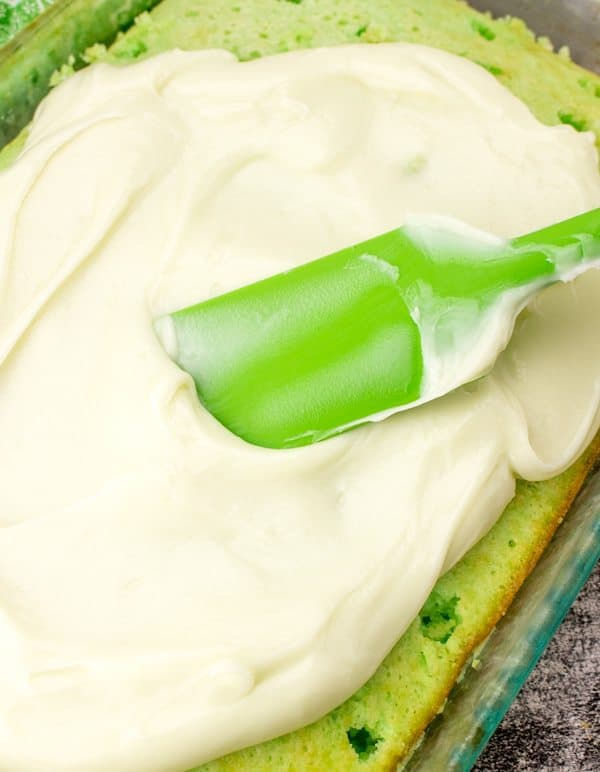 whipped topping on poke cake