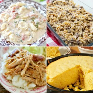 Meal Plan Sunday #42, Bean and Ham Soup, Mississippi Pork Roast, Cornbread, Amish Casserole, Creamy Tortellini Soup, Potato and Ham Chowder
