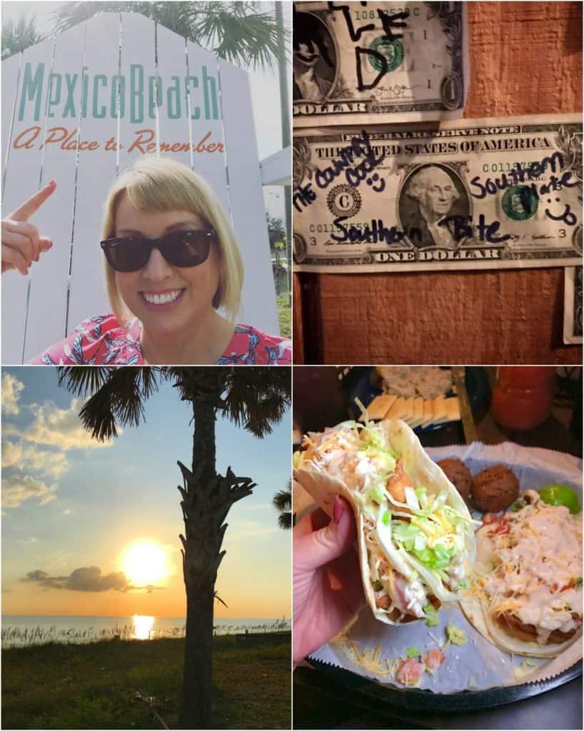 Mexico Beach, shrimp tacos, sunset, killer seafood