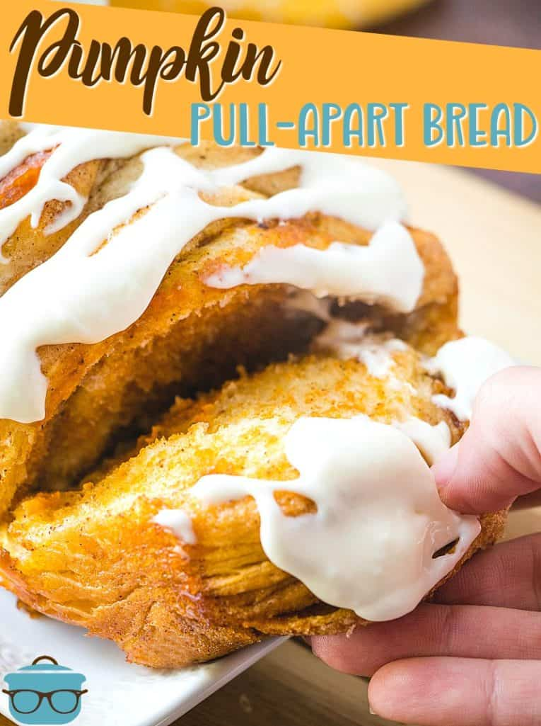 Pumpkin Pull-Apart Bread recipe from The Country Cook