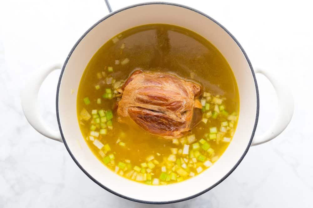 ham hock and vegetable stock