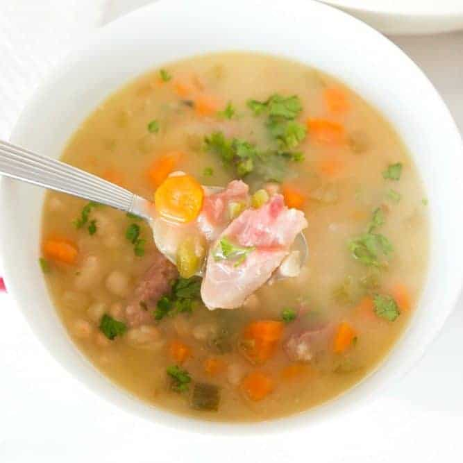 Senate Bean Soup with ham - The Country Cook