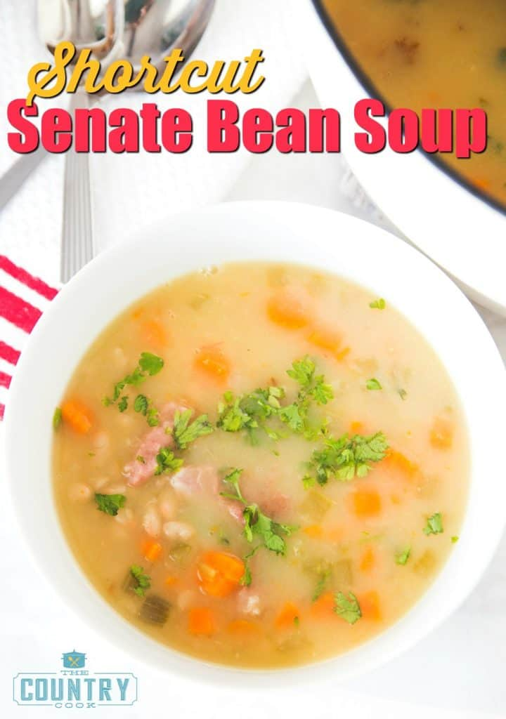 Shortcut Senate Bean Soup recipe from The Country Cook