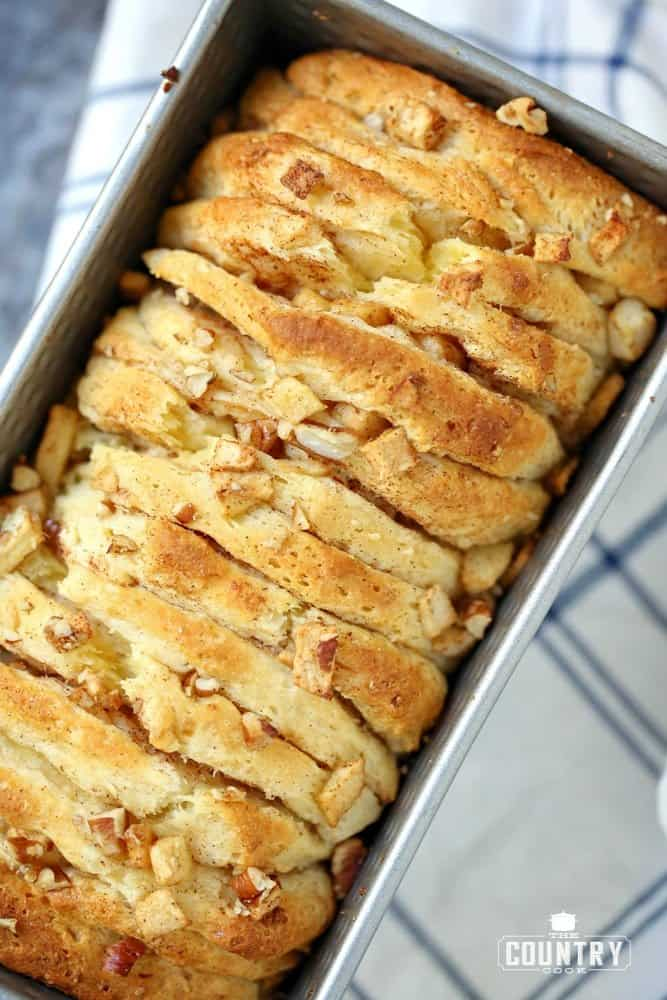 Canned Biscuit Apple Pecan Pull Apart Bread