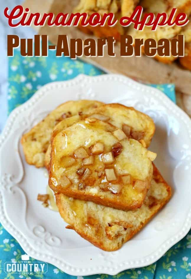Cinnamon Apple Pull Apart Bread recipe from The Country Cook