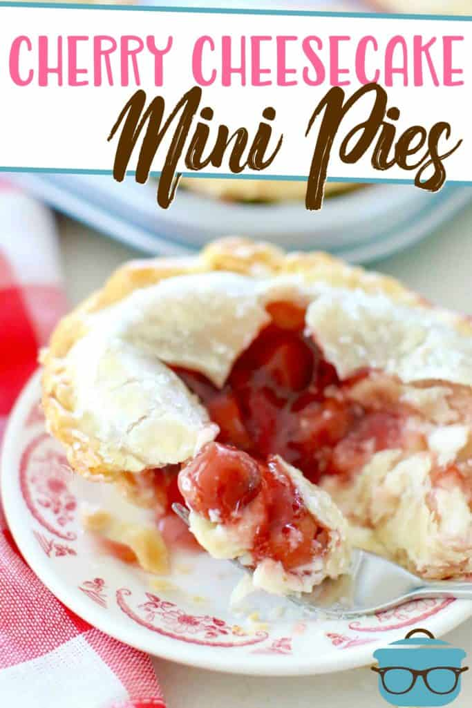 Cherry Cheesecake Mini Pies recipe from The Country Cook