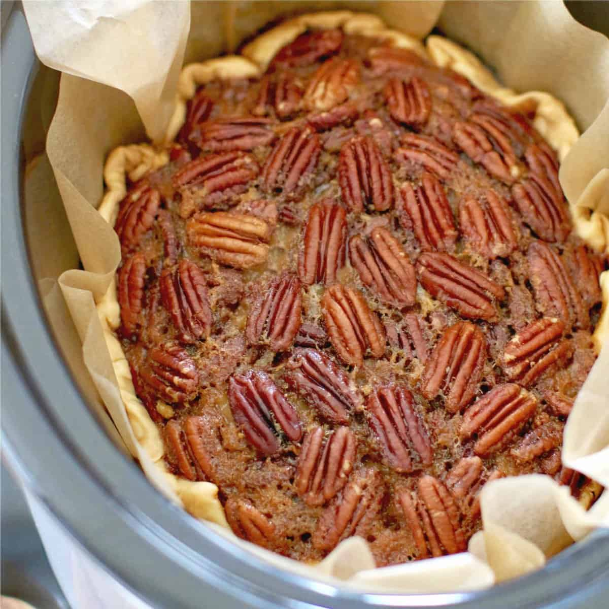 Crock Pot Pecan Pie recipe from The Country Cook