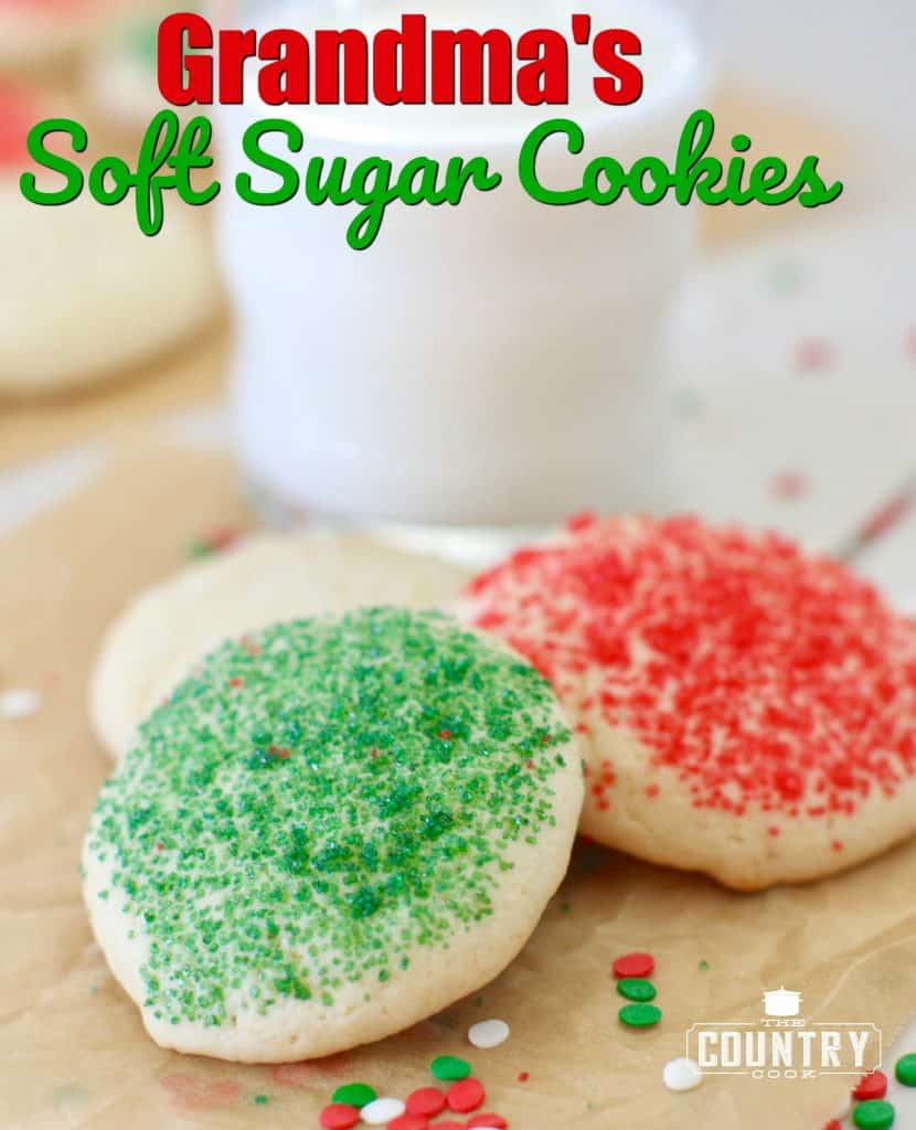 Grandma's Soft Sugar Cookie recipe from The Country Cook