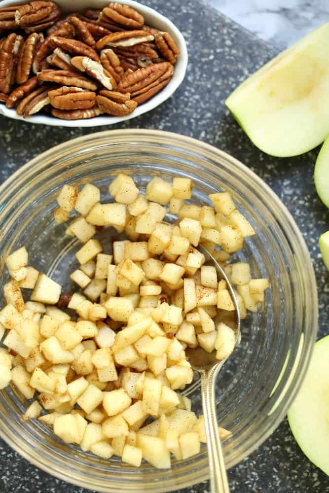 diced apples, cinnamon, brown sugar