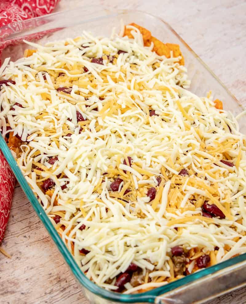 layered Dorito Taco Casserole
