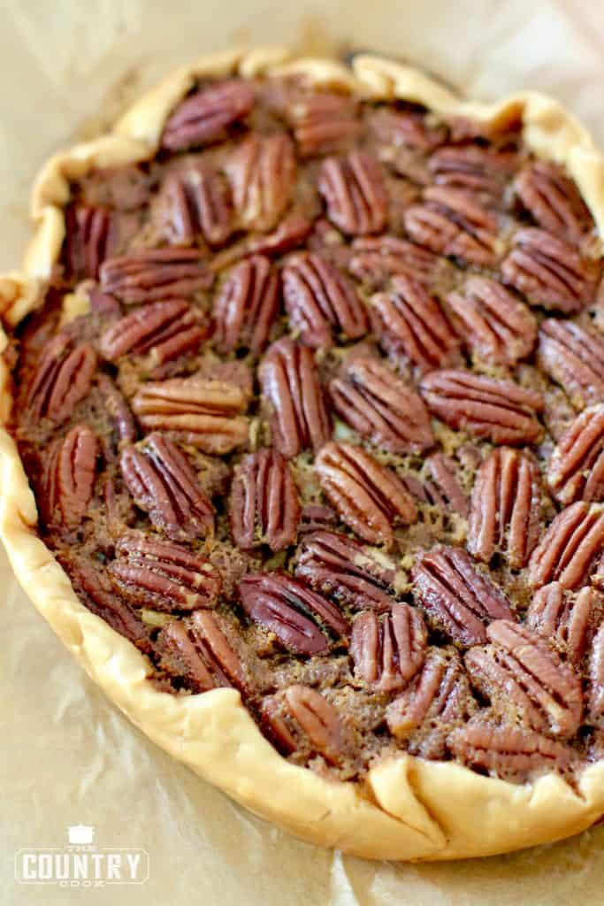 completely cooled pecan pie