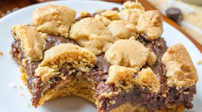 thumbnail, Fudge-filled Peanut Butter Bars