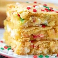 Easy Holiday Blondie Bars