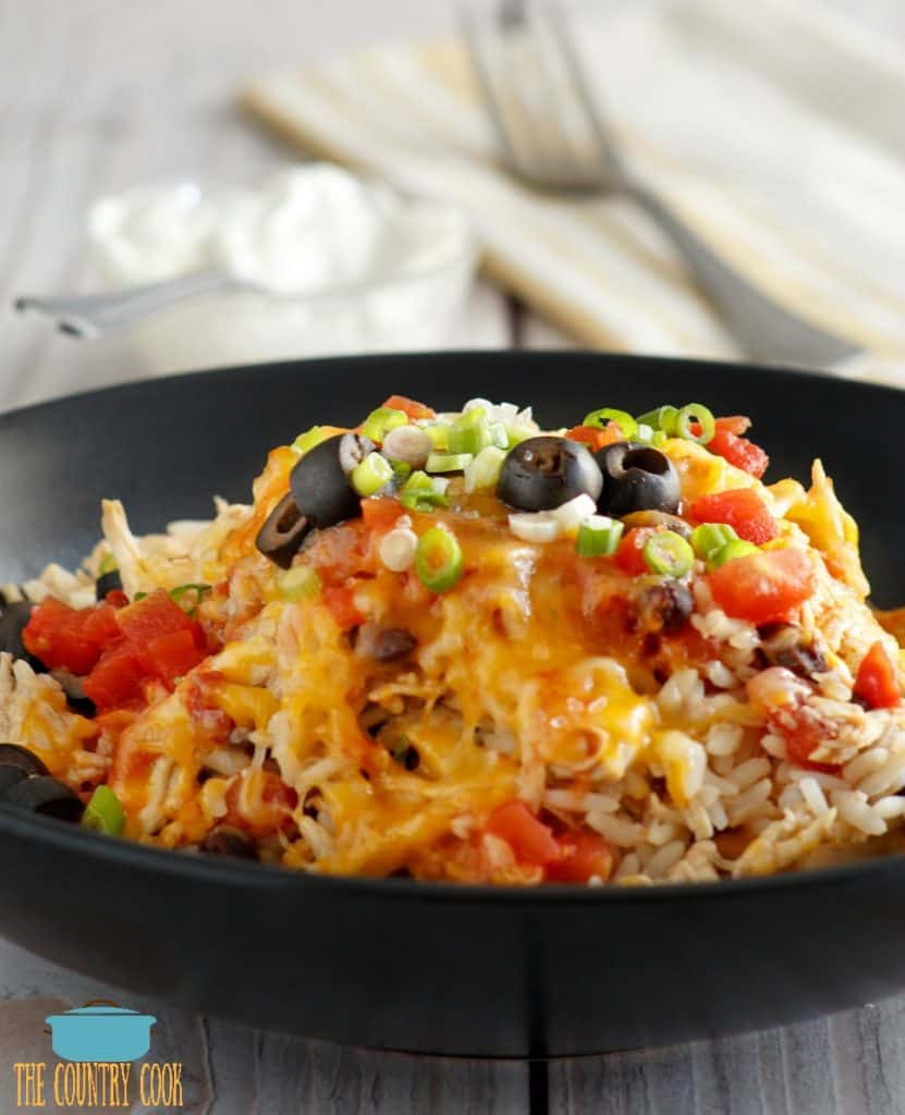 Crock Pot Chicken Burrito Bowl