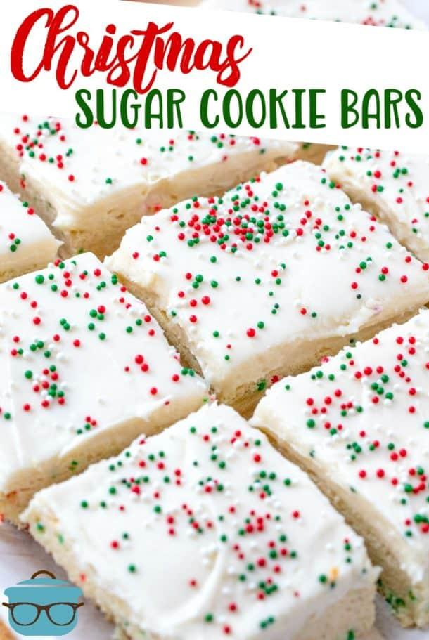 Christmas Sugar Cookie Bars