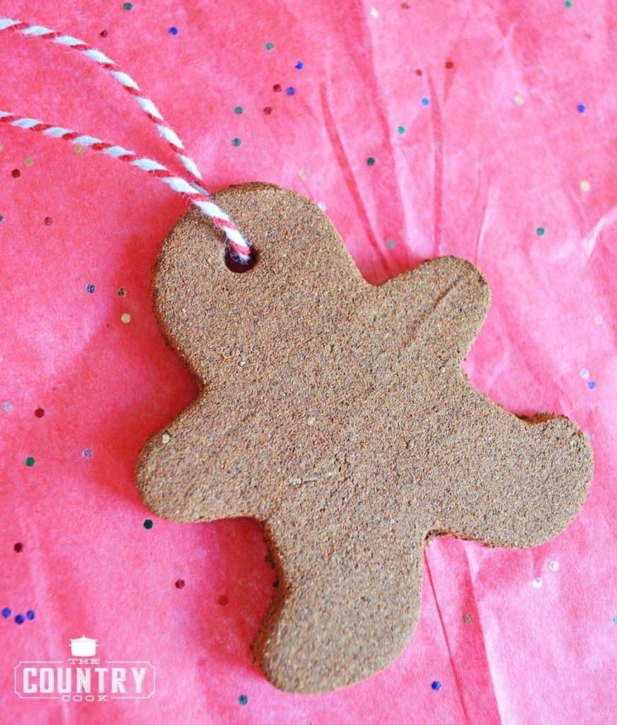 Homemade Cinnamon Ornament for Christmas Tree