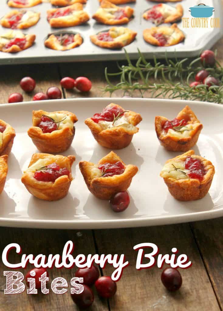 Cranberry Brie Bites recipe from The Country Cook