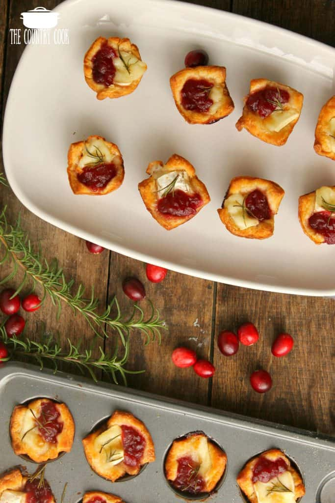 Cranberry Brie Bites for the holidays
