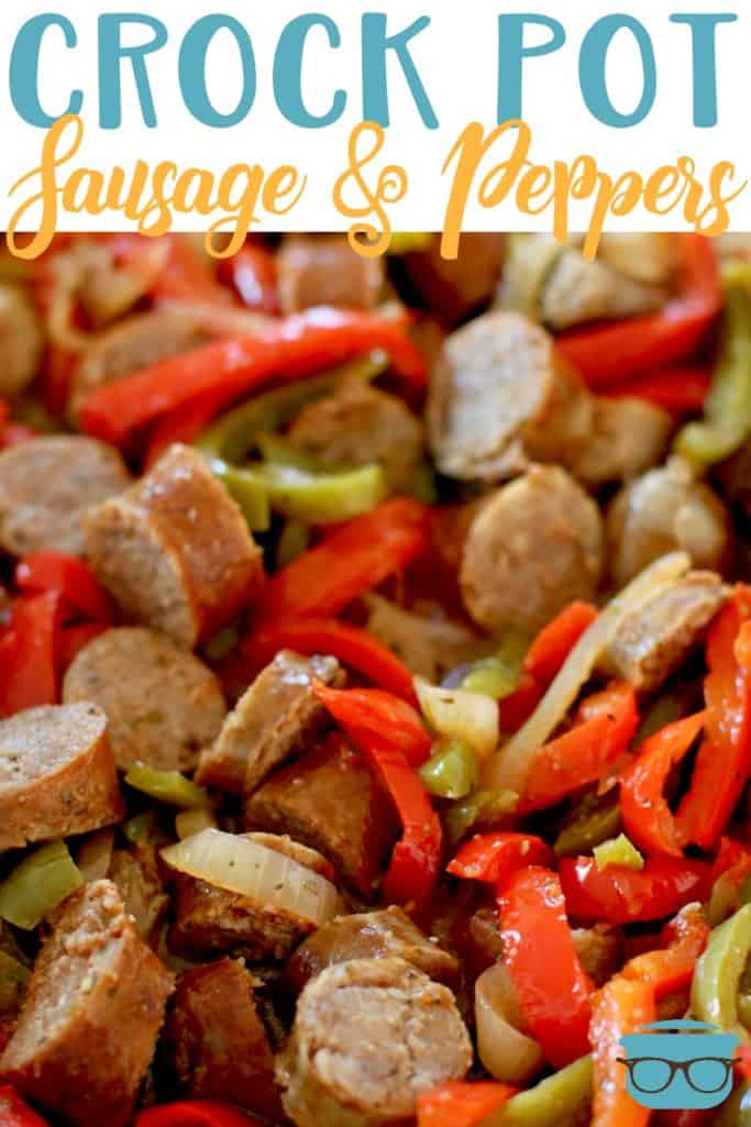 Crock Pot Sausage and Peppers recipe from The Country Cook