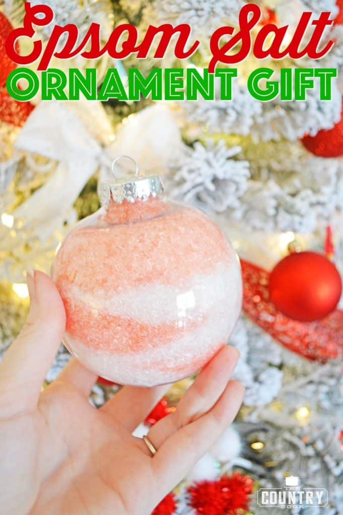 Scented Epsom Salt Gift Ornaments