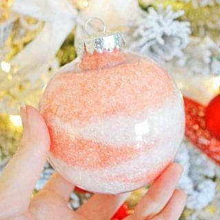 Epsom Salt Gift Ornament Craft for Christmas