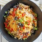 Crock Pot Chicken and Rice Burrito Bowl