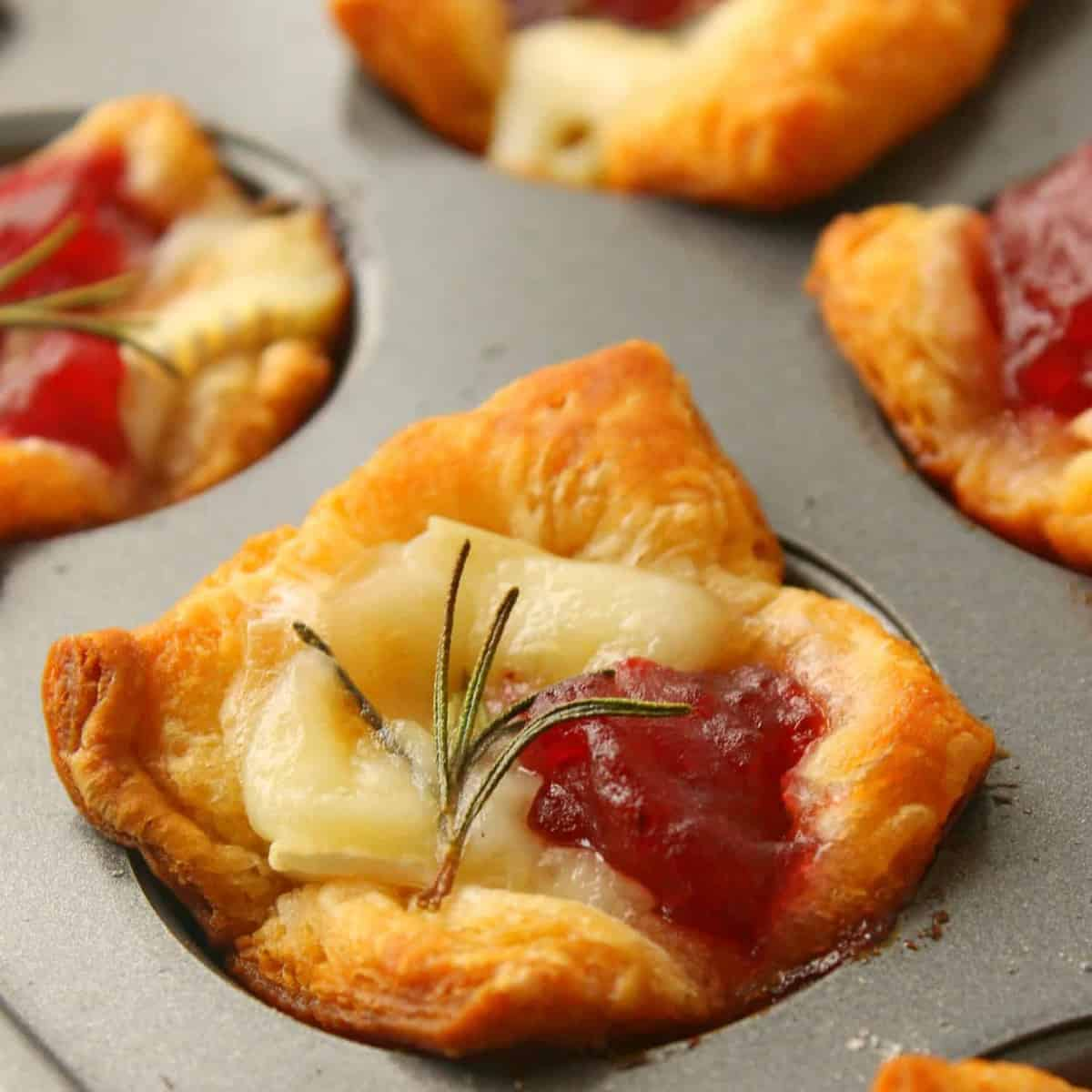cranberry brie bites the country cook
