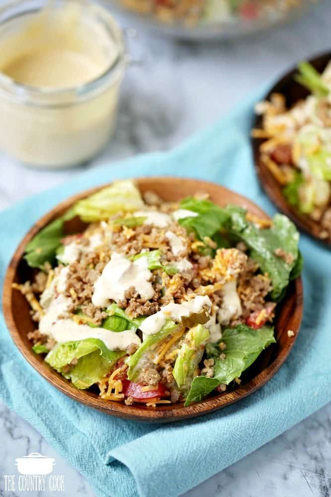 Low Carb Big Mac Cheeseburger Salad