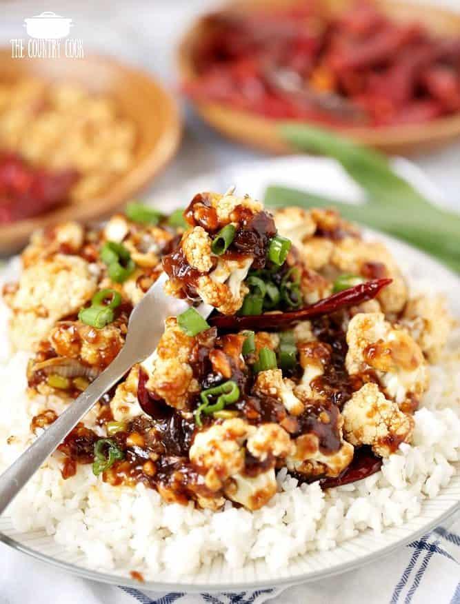Kung Pao Cauliflower, vegetarian