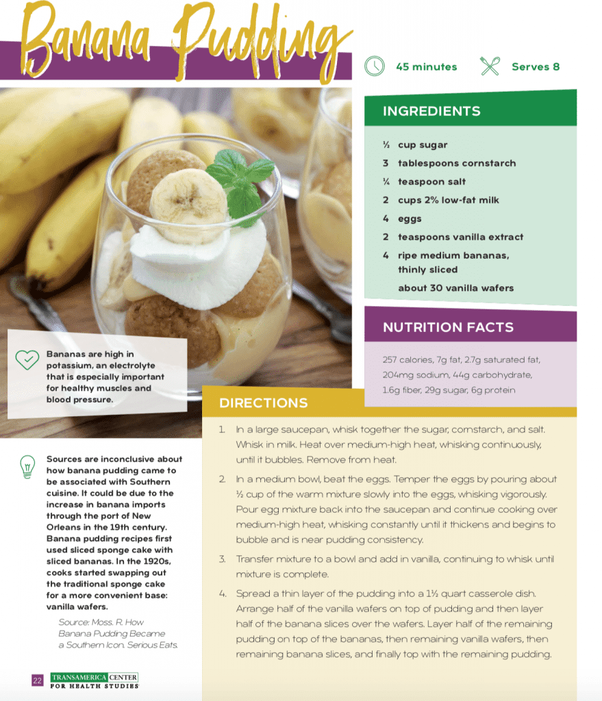 Healthier Banana Pudding